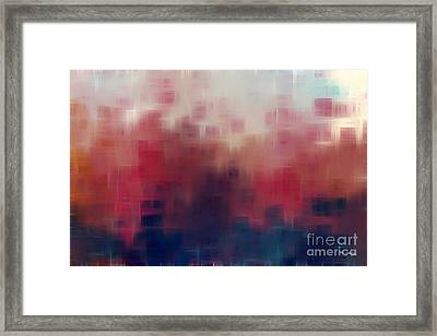 My Rainbow In The Cloud. Genesis 9 13 Framed Print by Mark Lawrence