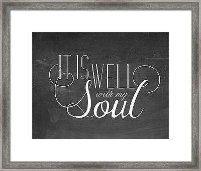My Soul Chalkboard Framed Print by Amy Cummings