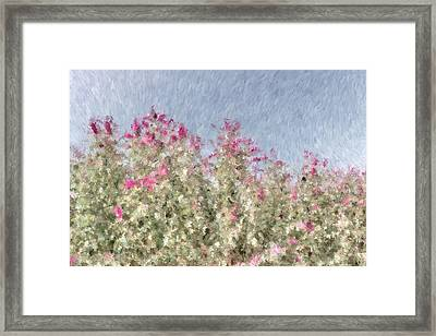 My Spring Garden - Impressionism Framed Print by Heidi Smith