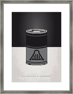 My Star Warhols Darth Vader Minimal Can Poster Framed Print by Chungkong Art