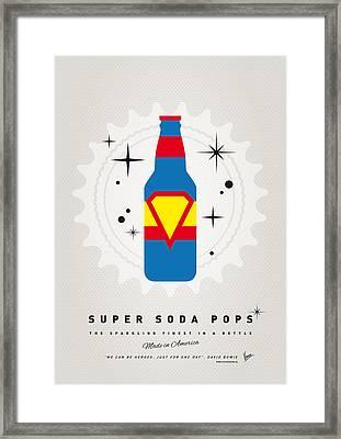 My Super Soda Pops No-05 Framed Print by Chungkong Art