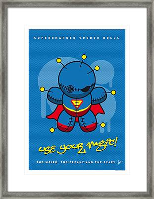 My Supercharged Voodoo Dolls Superman Framed Print by Chungkong Art
