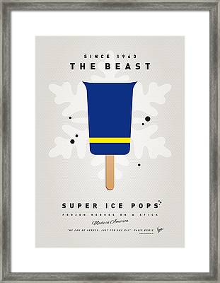 My Superhero Ice Pop - The Beast Framed Print by Chungkong Art