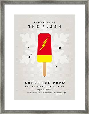 My Superhero Ice Pop - The Flash Framed Print by Chungkong Art