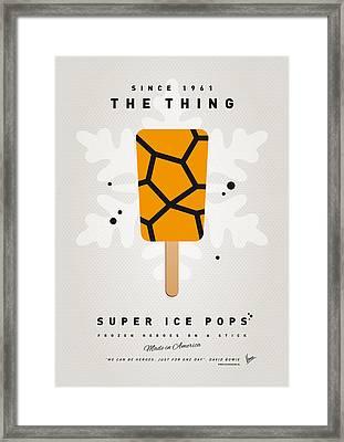 My Superhero Ice Pop - The Thing Framed Print by Chungkong Art