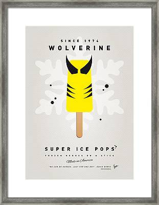 My Superhero Ice Pop - Wolverine Framed Print by Chungkong Art
