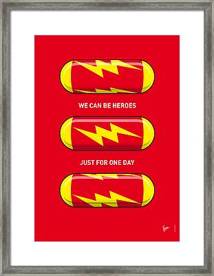 My Superhero Pills - The Flash Framed Print by Chungkong Art