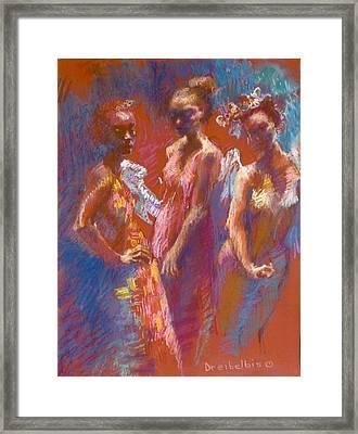 My Three Angels Framed Print by Ellen Dreibelbis