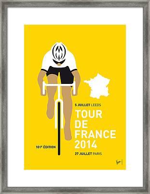 My Tour De France Minimal Poster 2014 Framed Print by Chungkong Art