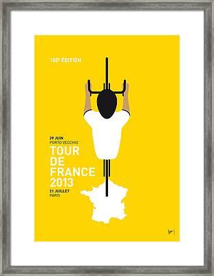 My Tour De France Minimal Poster Framed Print by Chungkong Art