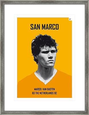 My Van Basten Soccer Legend Poster Framed Print by Chungkong Art