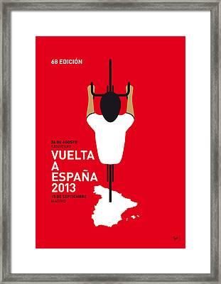 My Vuelta A Espana Minimal Poster - 2013 Framed Print by Chungkong Art