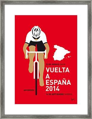 My Vuelta A Espana Minimal Poster 2014 Framed Print by Chungkong Art