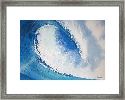 My Wave Framed Print by Jeff Lucas