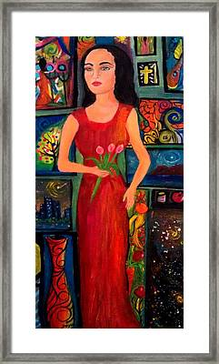 My World In The Art Framed Print by Deyanira Harris
