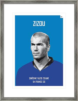 My Zidane Soccer Legend Poster Framed Print by Chungkong Art