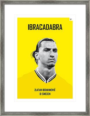 My Zlatan Soccer Legend Poster Framed Print by Chungkong Art