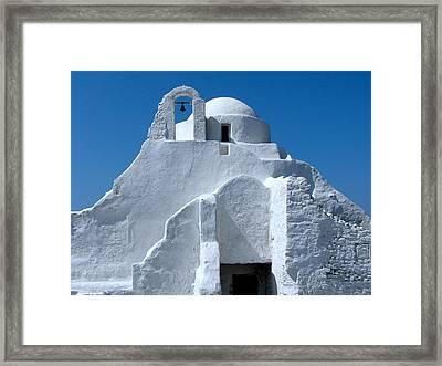 Mykonos Church Framed Print by Bonita Hensley