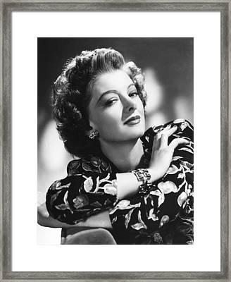 Myrna Loy, Mgm Portrait, 1940s Framed Print by Everett