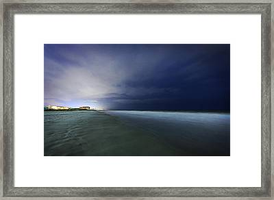 Myrtle Beach Evening Shoreline Framed Print by Everet Regal