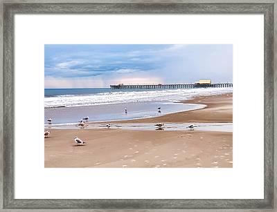 Myrtle Beach - Rainy Day Framed Print by Scott Hansen