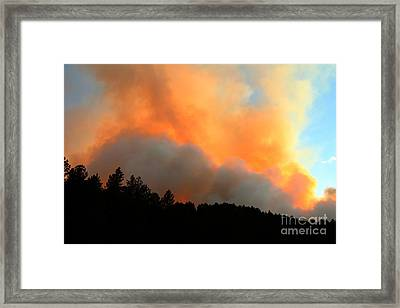 Framed Print featuring the photograph Myrtle Fire Near Rifle Pit Road by Bill Gabbert
