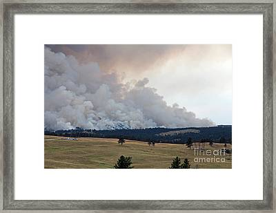 Framed Print featuring the photograph Myrtle Fire West Of Wind Cave National Park by Bill Gabbert