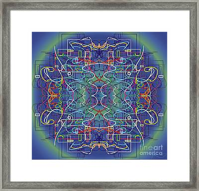 mYSL tHE tHOUGHT Framed Print by WouX TheBASSement