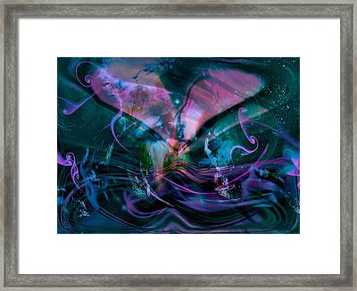 Mysteries Of The Universe Framed Print by Linda Sannuti