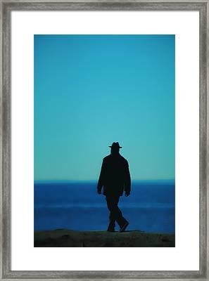 Mysterious Man Framed Print by Karol Livote