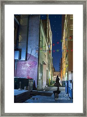 Mystery Alley Framed Print by Juli Scalzi