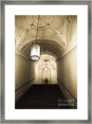 Mystery Behind Framed Print by Syed Aqueel