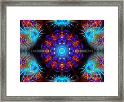 Mystery Of Blue Framed Print by Hanza Turgul