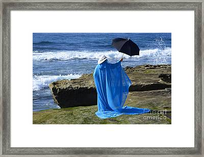 Mystic Blue By The Sea 2 Framed Print by Bob Christopher