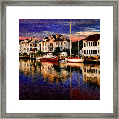 Mystic Ct Framed Print by Sabine Jacobs