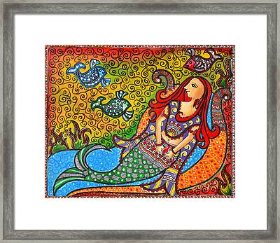 Mystic Mermaid Framed Print by Deepti Mittal