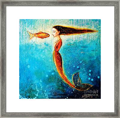 Mystic Mermaid II Framed Print by Shijun Munns