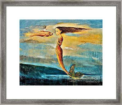 Mystic Mermaid IIi Framed Print by Shijun Munns