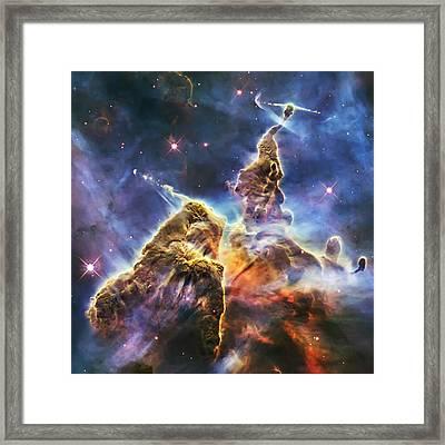 Mystic Mountain Framed Print by Adam Romanowicz