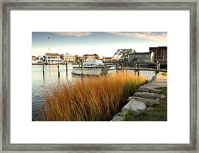 Mystic Seaport Ct Framed Print by Gail Maloney