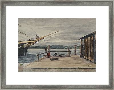 Mystic Seaport Joseph Conrad And Clam Shack Framed Print by Patty Kay Hall