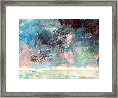 Mystic Skies Of Winter Framed Print by Trilby Cole