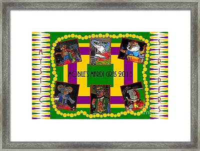Mystic Stripers Parade Images 2013  Framed Print by Marian Bell