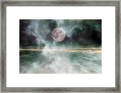 Mystical Beach Moon Framed Print by Betsy Knapp