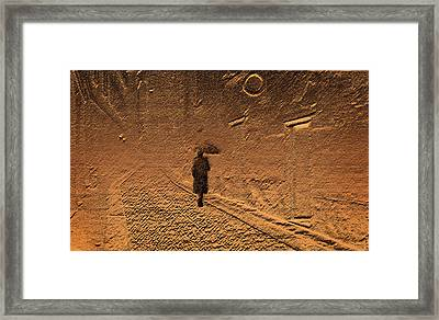 Mystical Journey Of The Shadow Of Your Soul In Extraneous World Framed Print by Jenny Rainbow