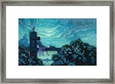 Mystical Night Framed Print by Michael Z Tyree