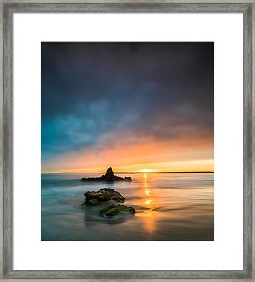 Mystical Sunset Framed Print by Larry Marshall