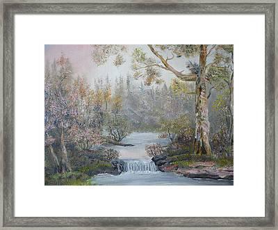 Mystifying Forest Framed Print by Ethos Lambousa