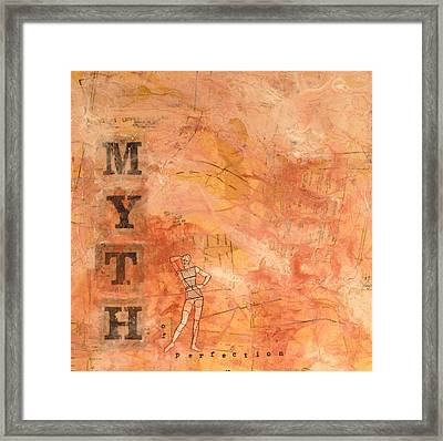 Myth Of Perfection Framed Print by Carlynne Hershberger