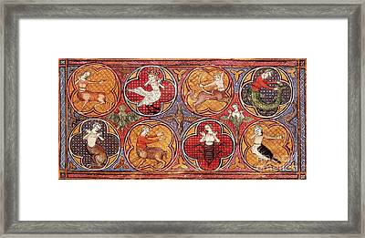 Mythical Creatures, 15th Century Framed Print by Photo Researchers